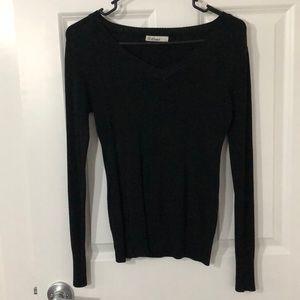 Basic Black V Neck Sweater